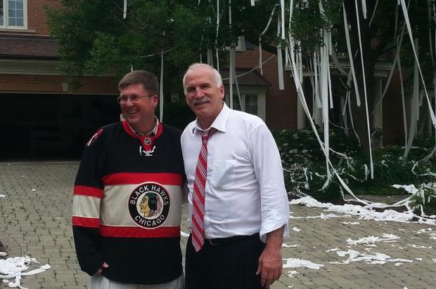 Blackhawks Coach Joel Quenneville's home got showered in toilet paper