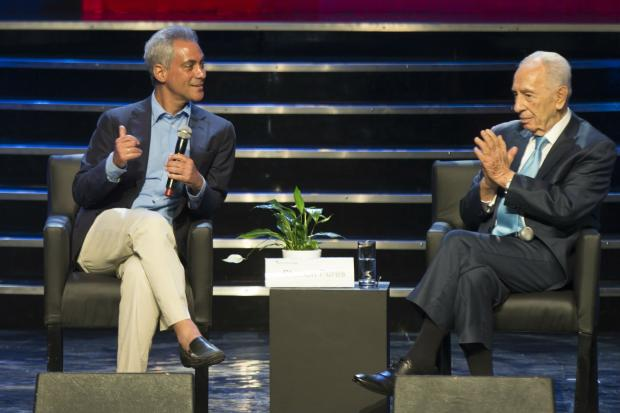 Mayor Rahm Emanuel is in Israel this week.
