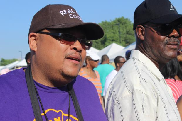 Hadiya Pendleton's dad, Nathaniel Pendleton, was guest of honor and top chef at the 24th Annual Real Men Cook fest.