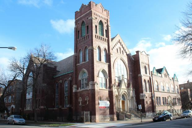 Developers met with members of the Ukrainian Village Neighborhood Association Thursday to discuss plans to build condos on the site of the St. John's Church and School at 913-25 N. Hoyne Ave. in Ukrainian Village.