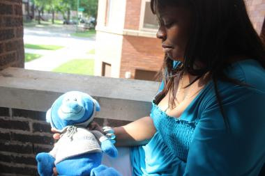 Marissa Boyd-Stingley's mother, Nortasha Stingley, held a blue stuffed bear her daughter had picked out on a Minnesota church trip. Blue was her favorite color.