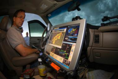 "Tim Samaras, a storm researcher who appears in the ""Storm Science"" exhibit at the Museum of Science and Industry, died Friday studying storms in Oklahoma."