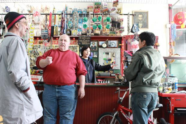 Jerry Masterson, 57, and his wife, Windy, run Windy City Hardware — which doubles as a bike shop — at 33rd and Halsted streets in Bridgeport.