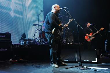 Singer/musician Frank Black, musician David Lovering and singer/musician Kim Deal of The Pixies perform at Hammerstein Ballroom on Nov. 23, 2009 in New York City.