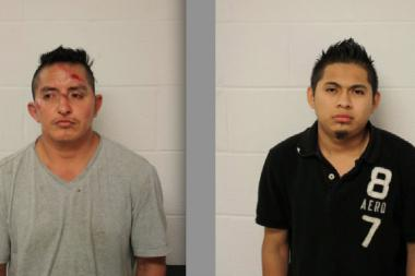 Armando Orozco (left) and Luis Sosa allegedly tried to rob a cab driver in Albany Park.