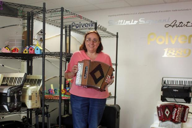 Alywind owner Bea Polverini hopes to save her accordion business with a GoFundMe campaign.