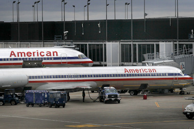 No injuries were reported when American Airlines Flight 810 from Reno blew two tires upon landing Monday afternoon. (File photo)
