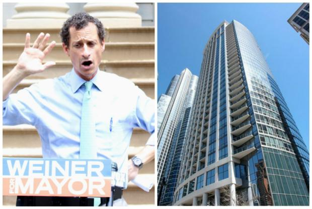 NYC mayoral hopeful Anthony Weiner allegedly promised a woman a South Loop Chicago condo for sex.