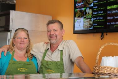Carrie Clark and Jay Sebastian, of Bridgeport, opened the Bridgeport Pasty Company store at 3142 S. Morgan St.