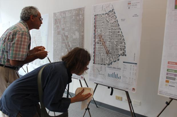 The Clark Street Task Force hosted its first open house to get ideas on revitalizing the street.
