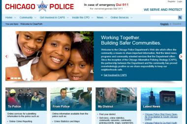 The Chicago Police Department has a redesigned website.