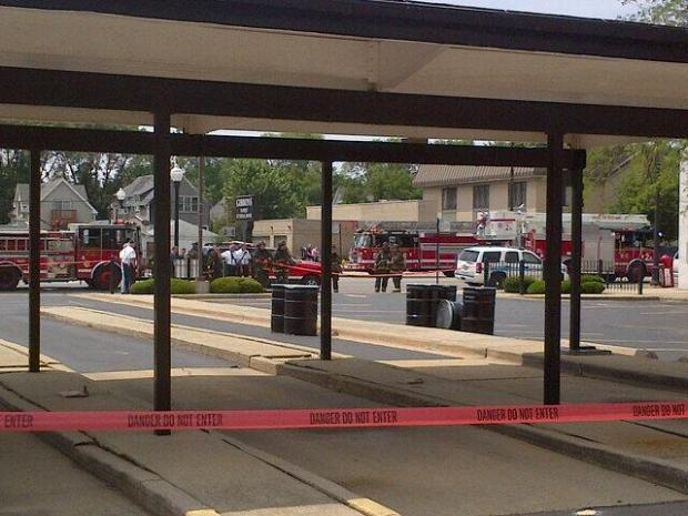 The Chicago Fire Department responded to a parking lot where several barrels filled with an unknown substance were found.