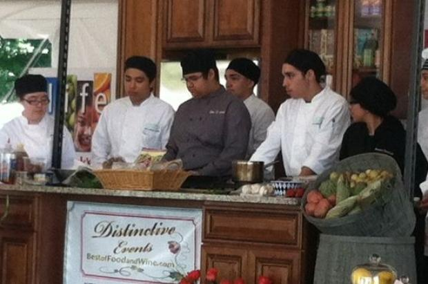 A group of young chefs from the After School Matters program put on a healthy cooking demonstration Thursday at Taste of Chicago.