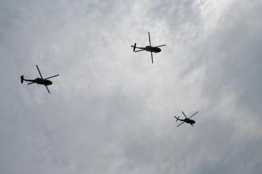 Helicopters sighted across Chicago since Monday are part of a routine military training, according to the city's Office Of Emergency Management.