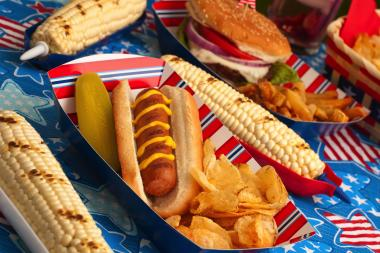 A survey by Seamless.com said burgers have become the patriotic food of choice, dethroning hot dogs.