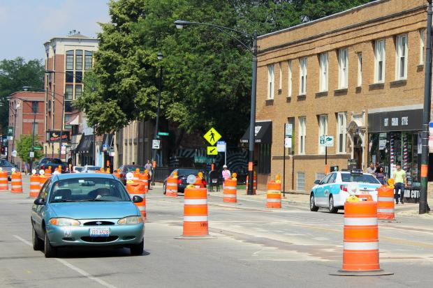 Lane closures in effect on Lawrence Avenue as work starts on first phase of streetscape project.