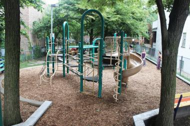 Goldberg, Lazarus, Matanky and Paschen parks make the cut for Chicago Plays! renovations. Lazarus Park is pictured here.