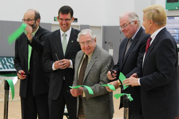 Roosevelt University celebrated the completion of its latest building, the Lillian and Larry Goodman Center, following a July 31 ribbon cutting ceremony.