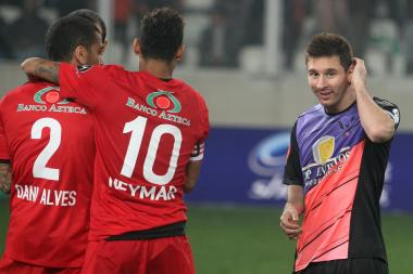 Lionel Messi during the Messi & Friends v The Rest Of The World XI match on July 2 in Lima, Peru.