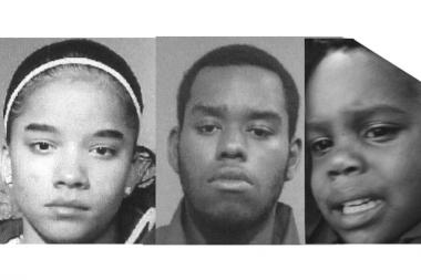 (From left) Serna Lebron, 16, Brian Connor, 19, and Devon Tims, 2, are missing from the Northwest Side.