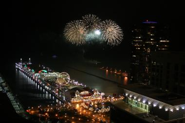 The city's annual July 4th fireworks display will take place at Navy Pier on Thursday starting at 9:30 p.m.