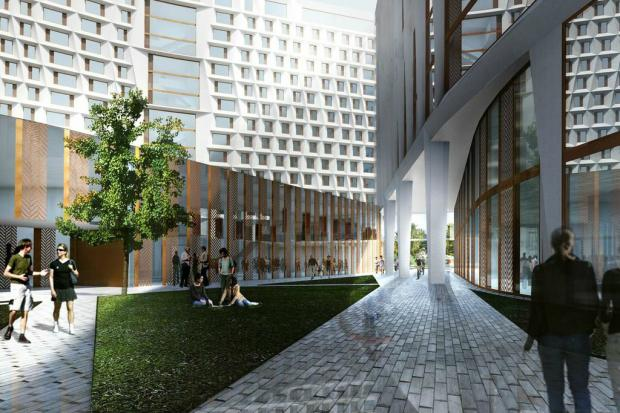 Designs were unveiled Tuesday for a new dorm on the University of Chicago campus.