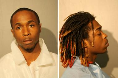 Tommie Harris (left), 25, and Quintion Humphries, 19, were charged with first-degree murder in the slaying of 20-year-old Shavonte Howard, police said.