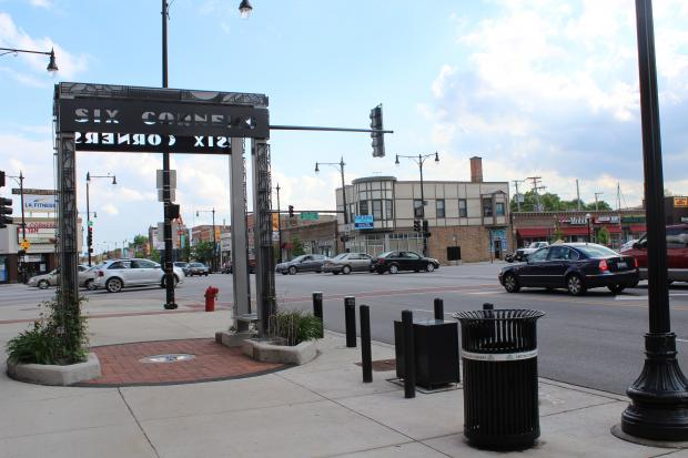 The intersection of Milwaukee Avenue, Cicero Avenue and Irving Park Road.