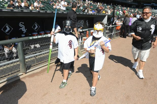 "The team encourages fans to dress up in ""Star Wars"" gear for its annual promotion."