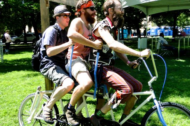 Tour de Fat drew huge crowds to Logan Square's Palmer Square park Saturday.