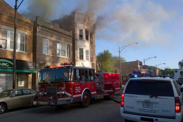 A fire broke out on the South Side Monday morning.