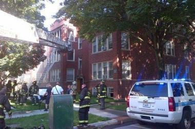 One person was critically injured in a fire in the 2100 block of West Lunt Avenue in West Rogers Park Wednesday, fire officials said.