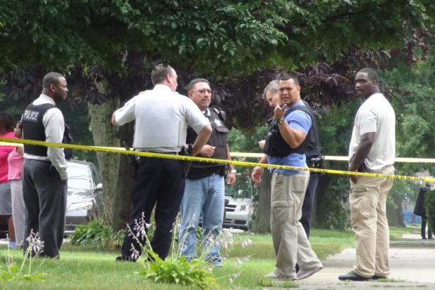 A man was shot and killed in the 11700 block of Sale Hale Saturday.