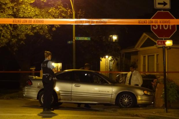 Police investigated a fatal shooting in the 9000 block of South Justine Street late Thursday night.