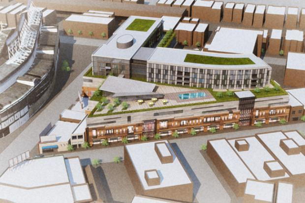 Developers of the long-stalled Addison Park on Clark project hope to gain city approval in fall 2013 for an adjusted plan with 148 apartments, 493 parking spaces and nearly 170,000 square feet of retail space.