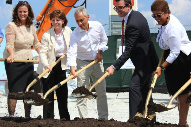 Mayor Emanuel Officially Breaks Ground on New $15M Albany Park Library