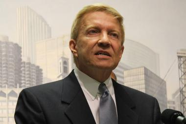 Ald. Bob Fioretti decried the lack of a neighborhood high school in the South Loop and said it's part of a systematic attack on neighborhood schools.