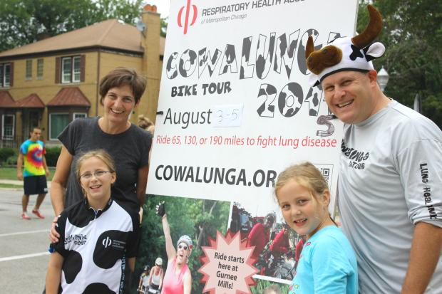 The Bloom family of North Park will take part in the three-day, 190-mile Cowalunga Bike Tour as a team.