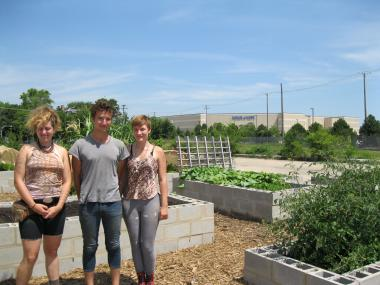 Cooperation Operation community garden co-founders Liz Nerat, Justin Booz and Erin Delaney.
