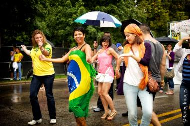 Fun-seekers attend last year's Brazil Fest in Logan Square.