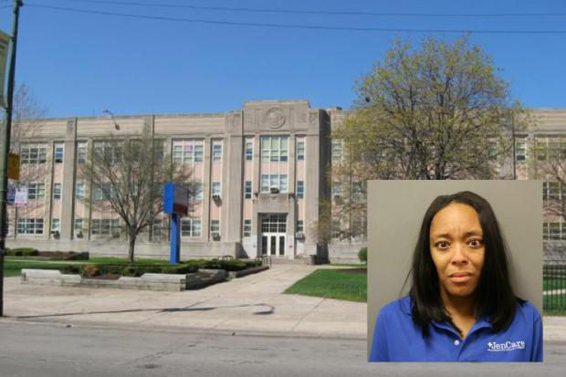 Bridgette Miller is accused of having sex with a student at Chicago Vocational Career Academy.