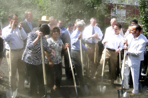 Mayor Rahm Emanuel presided over the groundbreaking for The Bloomingdale Trail in Bucktown Tuesday.