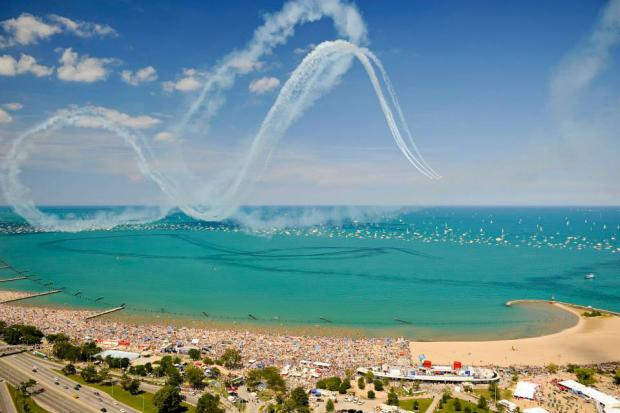 The 2013 Chicago Air & Water Show is being held August 17-18, with North Avenue Beach as the main viewing point.