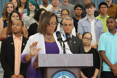 CPS CEO Barbara Byrd-Bennett said Monday schools will not face additional budget cuts based on declining enrollment.