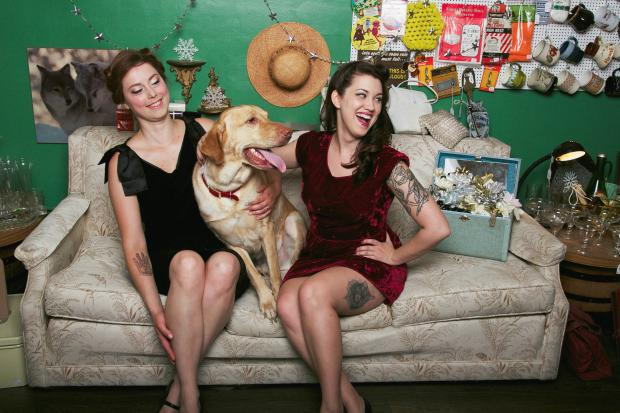 "Jeanna Vent and Alexz Sandoval decided to combine two of their favorite things — animals and tattoos — in a calendar featuring ""tattooed ladies and their beloved pets."" The proceeds will benefit the Trio Animal Foundation."