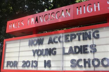 Effective Monday, Aug. 19, 2013 Hales Franciscan High School became a coed institution.