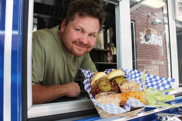 Joe Woodel, of Rogers Park, hits the road to sell his smoked brisket, chicken and ribs around the city.