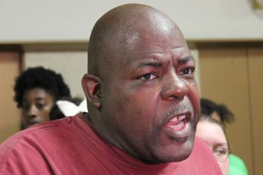 "Jitu Brown of the Kenwood Oakland Community Organization said, ""We are striking a match for an elected, representative school board."""