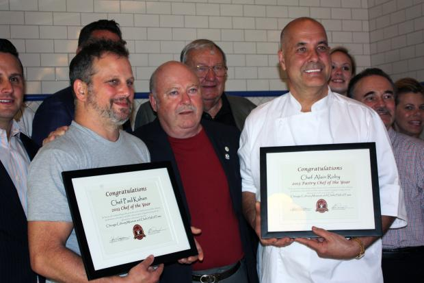 Paul Kahan was named Chef of the Year and Alain Roby was named Pastry Chef of the Year by the Chicago Culinary Museum and Chefs Hall of Fame.