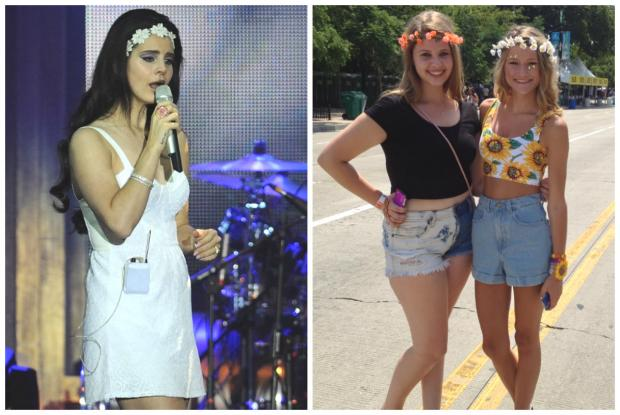 Some Lollapalooza fans dress like their fashion icon Lana Del Rey Friday.